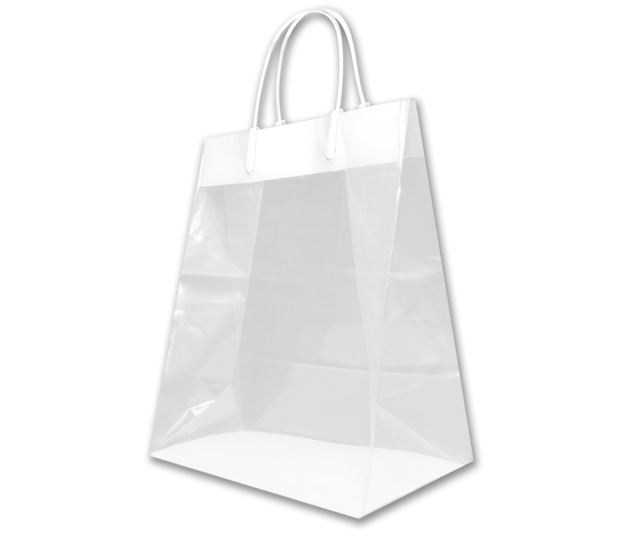 Plastic Handle : Cub Size Clear Plastic Shopping Bag