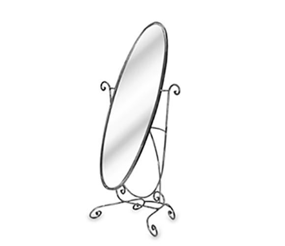 Free-Standing Floor Mirrors : One Sided Free Standing Oval Floor Mirror