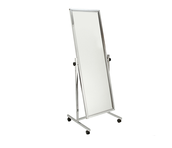 Free-Standing Floor Mirrors : Adjustable Angle Polished Chrome ...