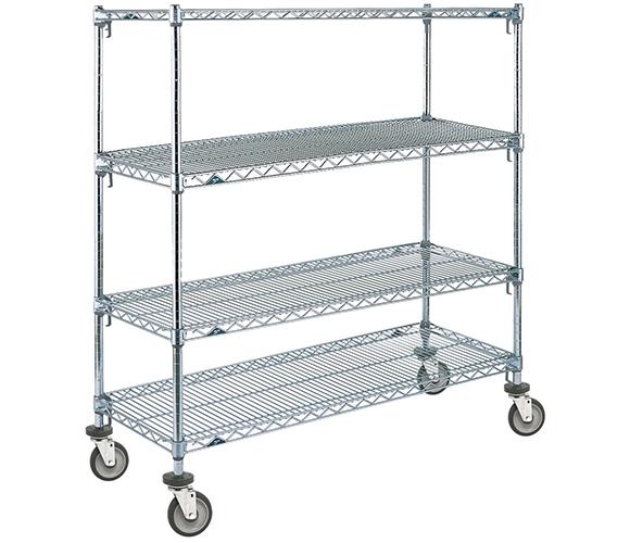 Rental Metro Shelving Shelf Unit With Wheels 6ft
