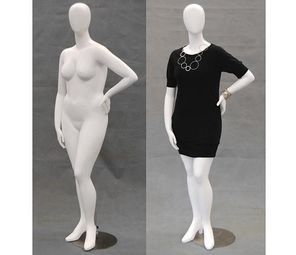 Egghead Mannequins Plus Size Egghead Mannequin Left Arm On Hip
