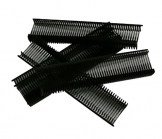 Black Fabric Fasteners - 1/2 Inch