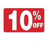 7 x 11 - 10% OFF Sign