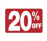 7 x 11 - 20% OFF Sign