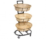 3-Tier Vertical Wicker Basket Displayer