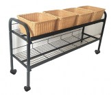 2-Tier Horizontal Wicker Basket Displayer
