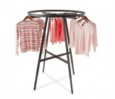Black Round Folding Rack  42 Inch Diameter