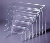 Lucite  Nesting Display Risers -  6 Piece Set