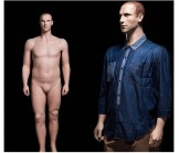 Male Plus Size Realistic Mannequin - Hands at Side