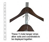Clear Plastic Coordinate Displayer Hanger Strip