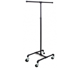 Adjustable Height Matte Black T-Stand
