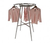42 Inch Diameter Satin Chrome Round Folding Rack