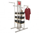Alta System 4-Way Rack with Shelves
