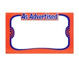 11 X 14 Paper Blank As Advertised Orange Sign